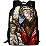 CY-STORE Window Glass Color Religion Church Christian Outdoor Shoulders Bag Fabric Backpack Multipurpose Daypacks For Adult