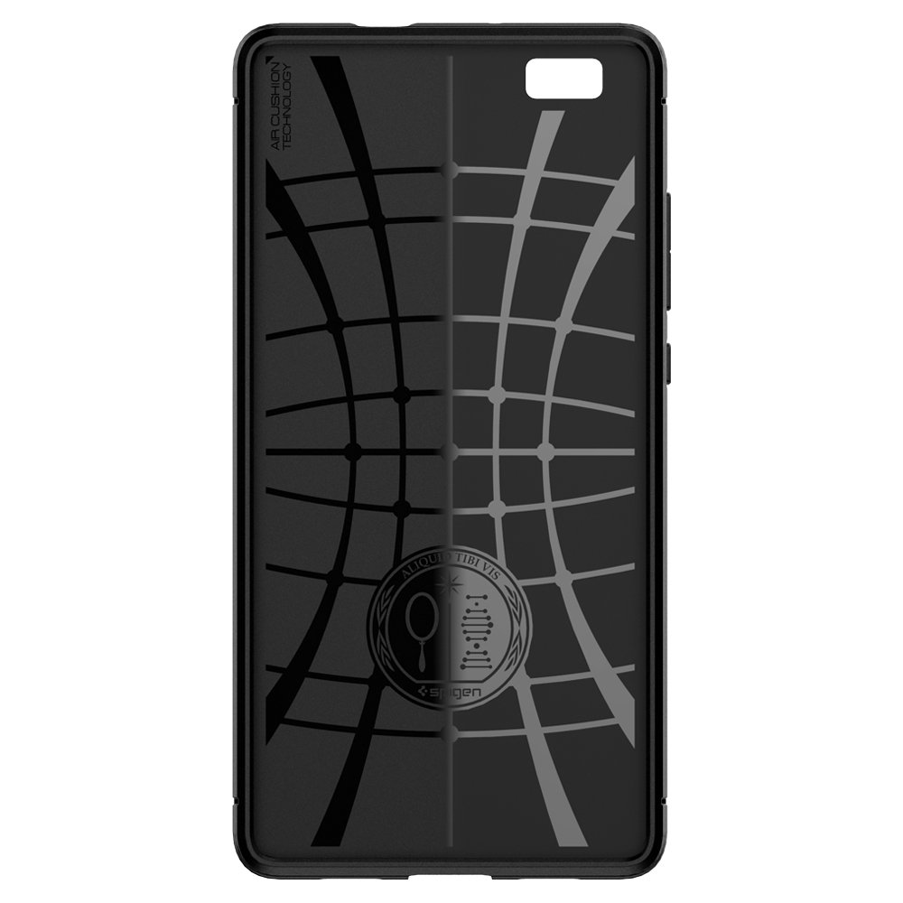 Spigen Rugged Armor Designed for Huawei P8 Lite Case (2015) - Black