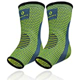 Benmarck Ankle Compression Sleeve, Plantar Fasciitis Sock, Foot Arch and Achilles Tendon Support Brace for Running for Men and Women by (Fjord Blue, Unisize)