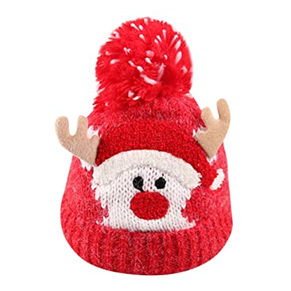 Image Unavailable. Image not available for. Color  Infant Cute Cartoon  Christmas Winter Warm Hat ... eac8eb73f9a7
