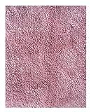 Mohawk Home Cut To Fit Ribbon Saxony Plush Bath Carpet, Rose, 5 by 6 Feet