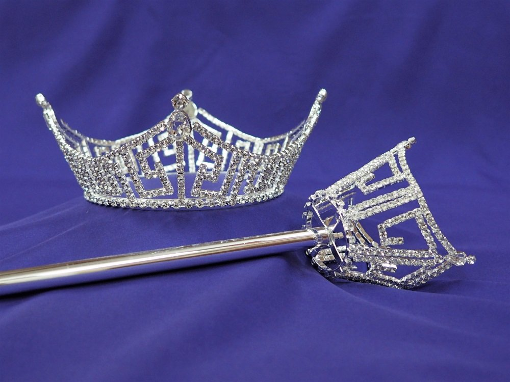 America Pageant Crown and Scepter Set Mid Size
