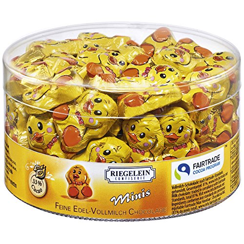 Riegelein Easter Chocolates - 33% Cocoa Solid Mini Chicks (80 pieces)