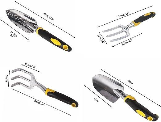 Philna12 aleación de Aluminio Kit de jardinería jardín Mano Juego de Herramientas jardinería Juego de Herramientas para: Amazon.es: Jardín