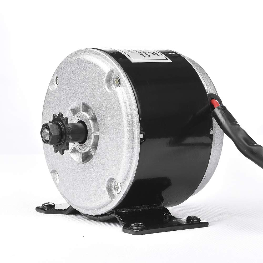 MY1016 24V 250W 350W Brush DC Motor, Permanent Magnet DC High Speed Motor, Electric Motorcycle E-Bike Light EV Quad Car Engine Motors, Conversion Kit, Razor, E-Scooter Motor Part (MY1018 24V 250W)