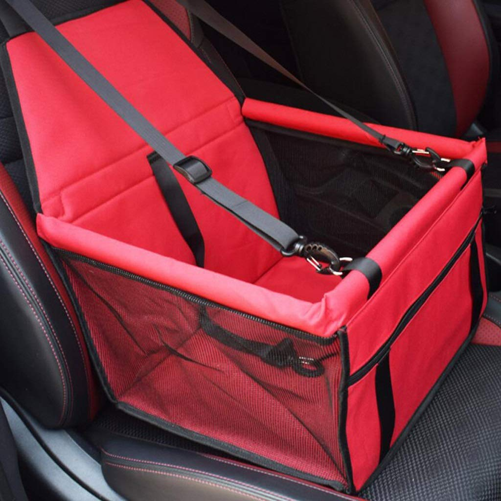 LLFX Comfortable Safety Dog Car Seat Belt Fully Enclosed Front Seat for All Models (Color : Red) by LLFX