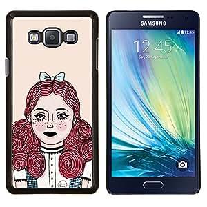 Stuss Case / Funda Carcasa protectora - Redhead chica Pastel Tones - Samsung Galaxy A7 ( A7000 )