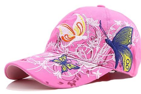 Ninjia Mujeres Gorra De Béisbol Casquillo Ligero con La Mariposa y el Sombrero del Verano del
