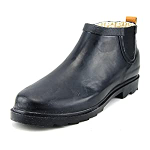 Chooka Women's Top Solid Low Rain Boot, Black, 10 M US