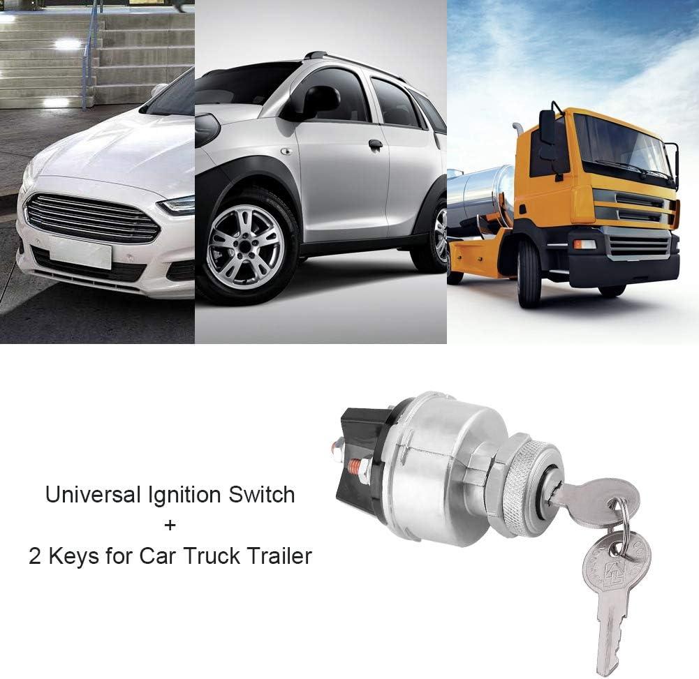 Auto Z/ündspule Universal Z/ündschloss Z/ündschalter mit 2 Schl/üsseln f/ür PKW-LKW-Anh/änger