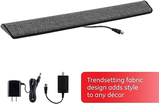 UltraPro antena de TV para interior, diseño de barra de tela, antena amplificada de largo alcance,