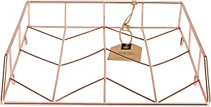 U Brands Desktop Letter Tray, Wire Metal, Copper/Rose Gold