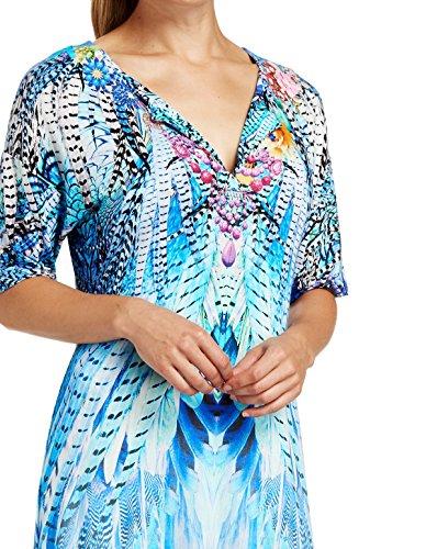 Federprint Blau im Tunika exotischen Féraud xwTOFRR