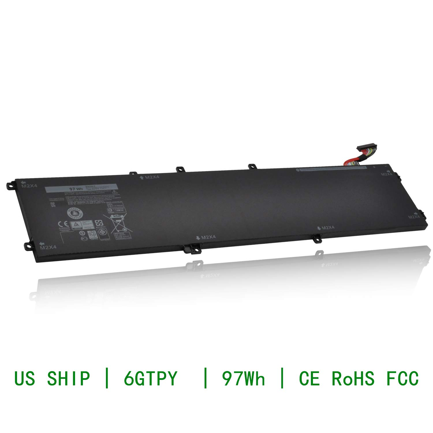 CQCQ 6GTPY Compatible Battery Replacement for DELL XPS15 9560 9550 Precision 5510 5520 M5520[11.4V 97Wh]