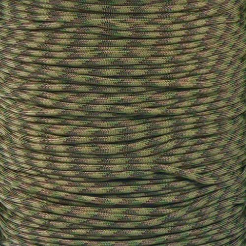 PARACORD PLANET 10 20 25 50 100 Foot Hanks and 250 1000 Foot Spools of Parachute 550 Cord Type III 7 Strand Paracord Mulit Camo 100 Feet