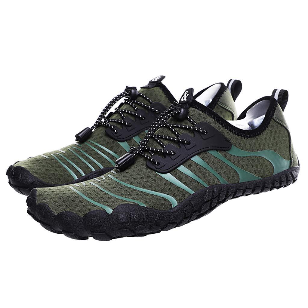 OFEFAN Mens Womens Water Sport Shoes Barefoot Quick-Dry Aqua Socks for Beach Swim Surf Yoga Exercise