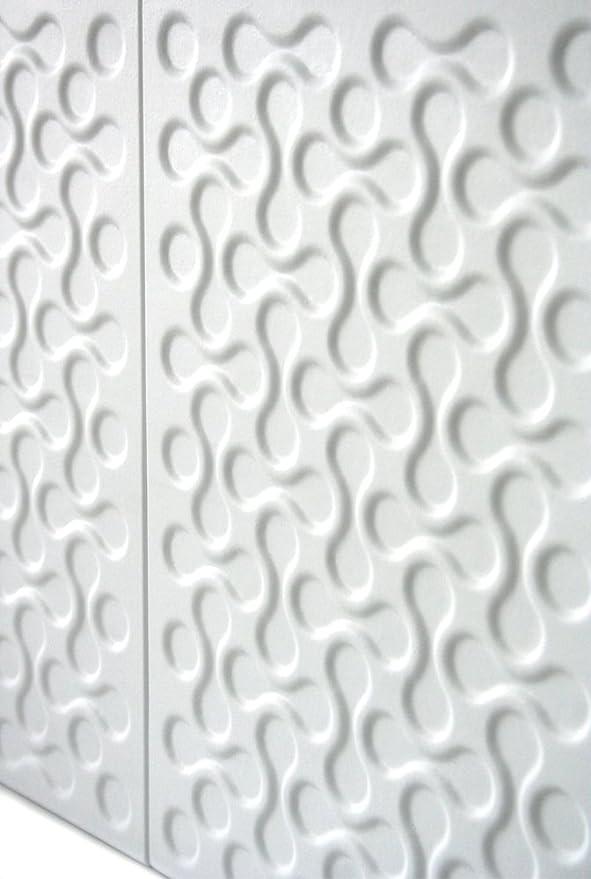 DIY montaje f/ácil. Panelados 8 pcs 30 x 40 cm Decoraci/ón pared autoadhesiva Mod. Ornato Blanco Decap/é Panel decorativo 3D Revestimiento pared y techo