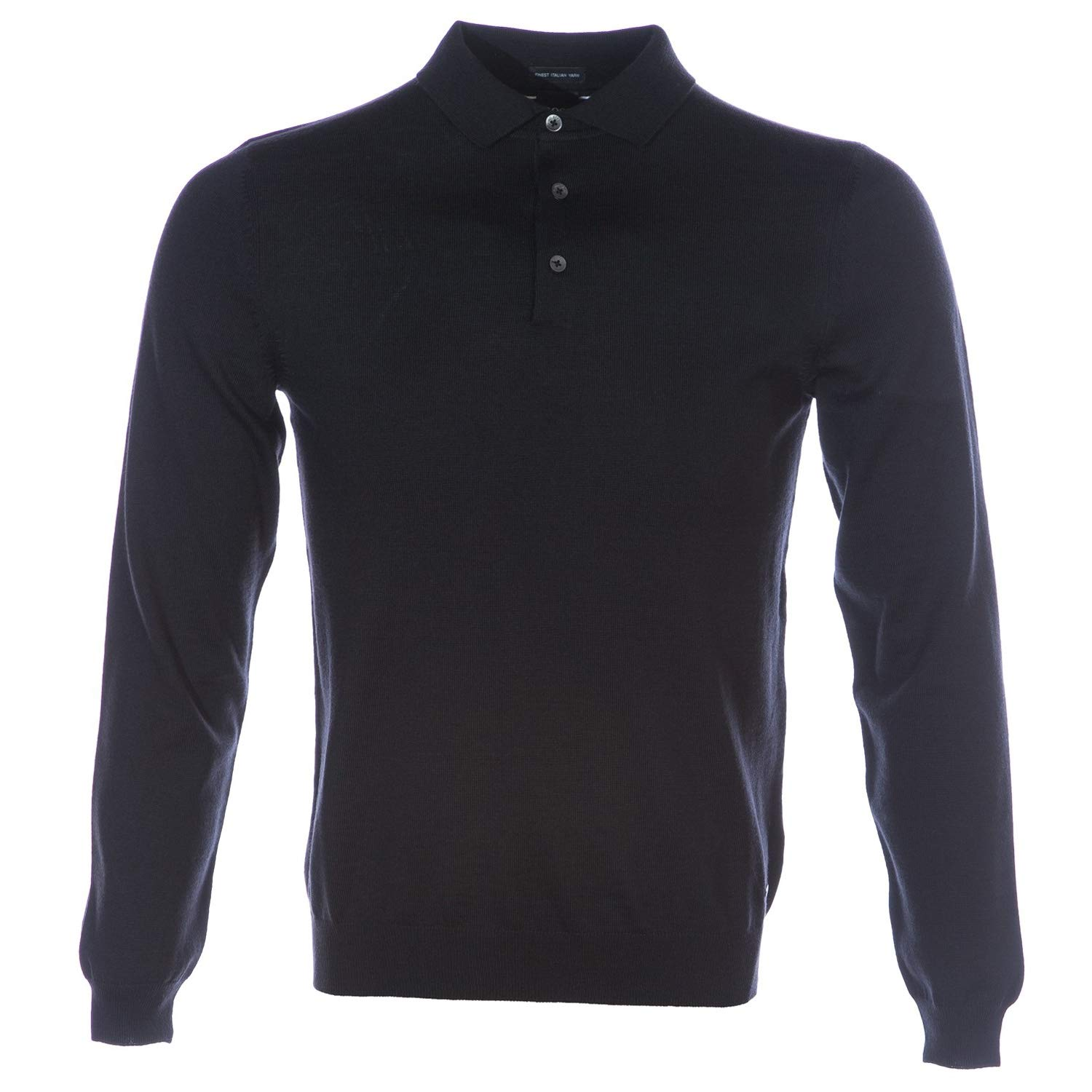 63dbd3ac BOSS Bono Long Sleeve Knitted Polo Shirt in Black M: Amazon.ca: Luggage &  Bags