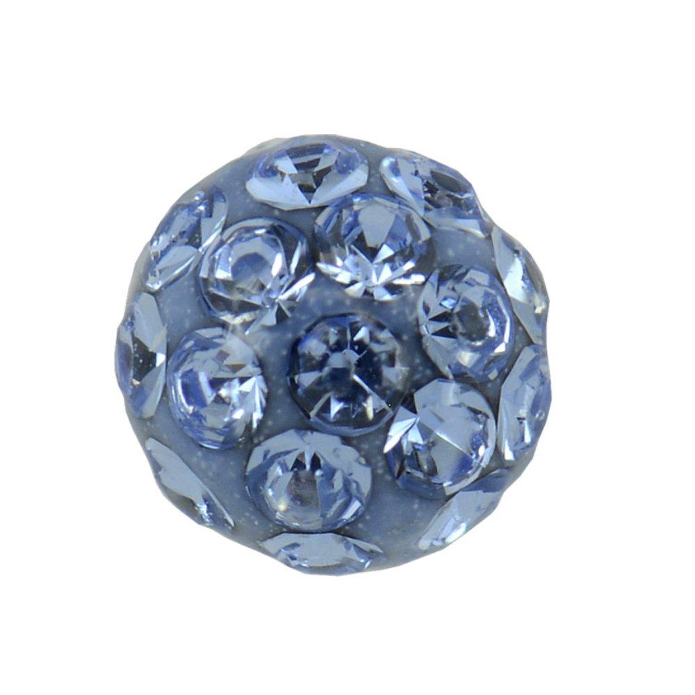 Studex Sensitive Large 8mm Light Sapphire Crystal Fireball Stainless Steel Stud Earrings by Studex (Image #1)