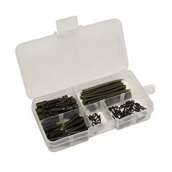 Fishing Tackle carp lead clips Quick Change Swivels 25mm Anti Tangle Sleeves