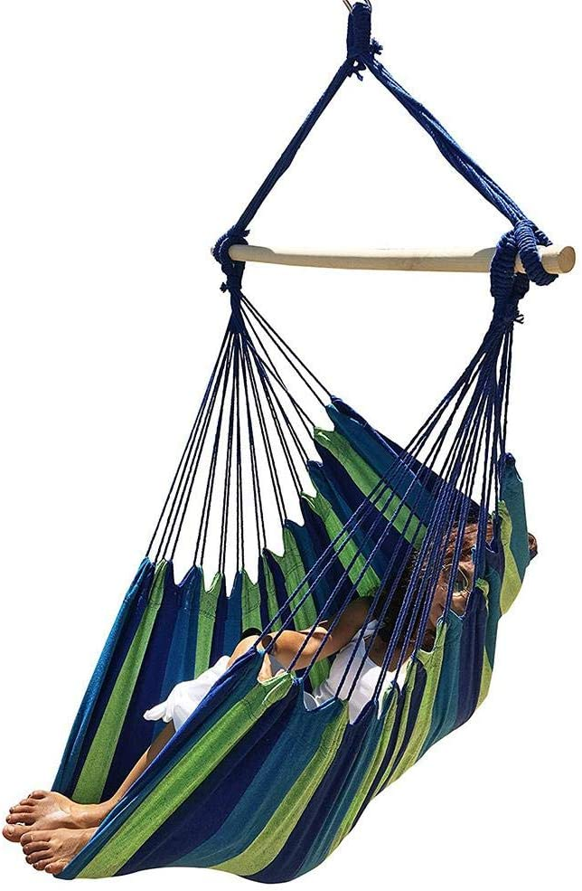 Hanging Hammock Chair Porch 67% 100% quality warranty! OFF of fixed price Blue Swin Whitelotous Swing