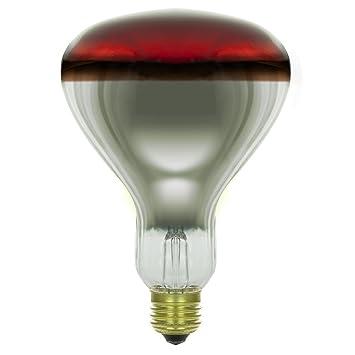 Sunlite 250 Watt Heat Lamp Infrared R40, 130 Volt Tuff Skin