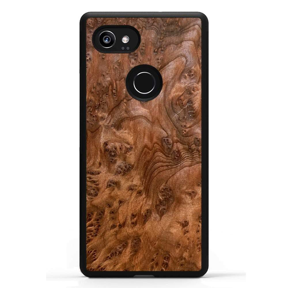 super popular a77be 846c1 Carved   Google Pixel 2 XL   Luxury Protective Traveler Case   Unique Real  Wooden Phone Cover   Rubber Bumper   Redwood Burl