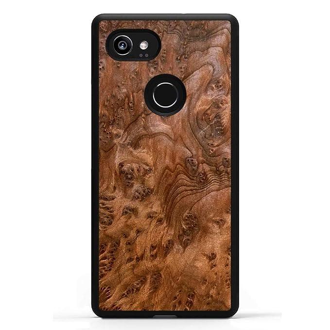 super popular bd548 c7407 Carved | Google Pixel 2 XL | Luxury Protective Traveler Case | Unique Real  Wooden Phone Cover | Rubber Bumper | Redwood Burl