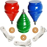 Authentic THROWBAK SPIN TOPS [Classic Wooden Trompos] - 100% Made in the USA
