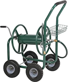 PayLessHere Hose Reel Cart with 4 Wheels