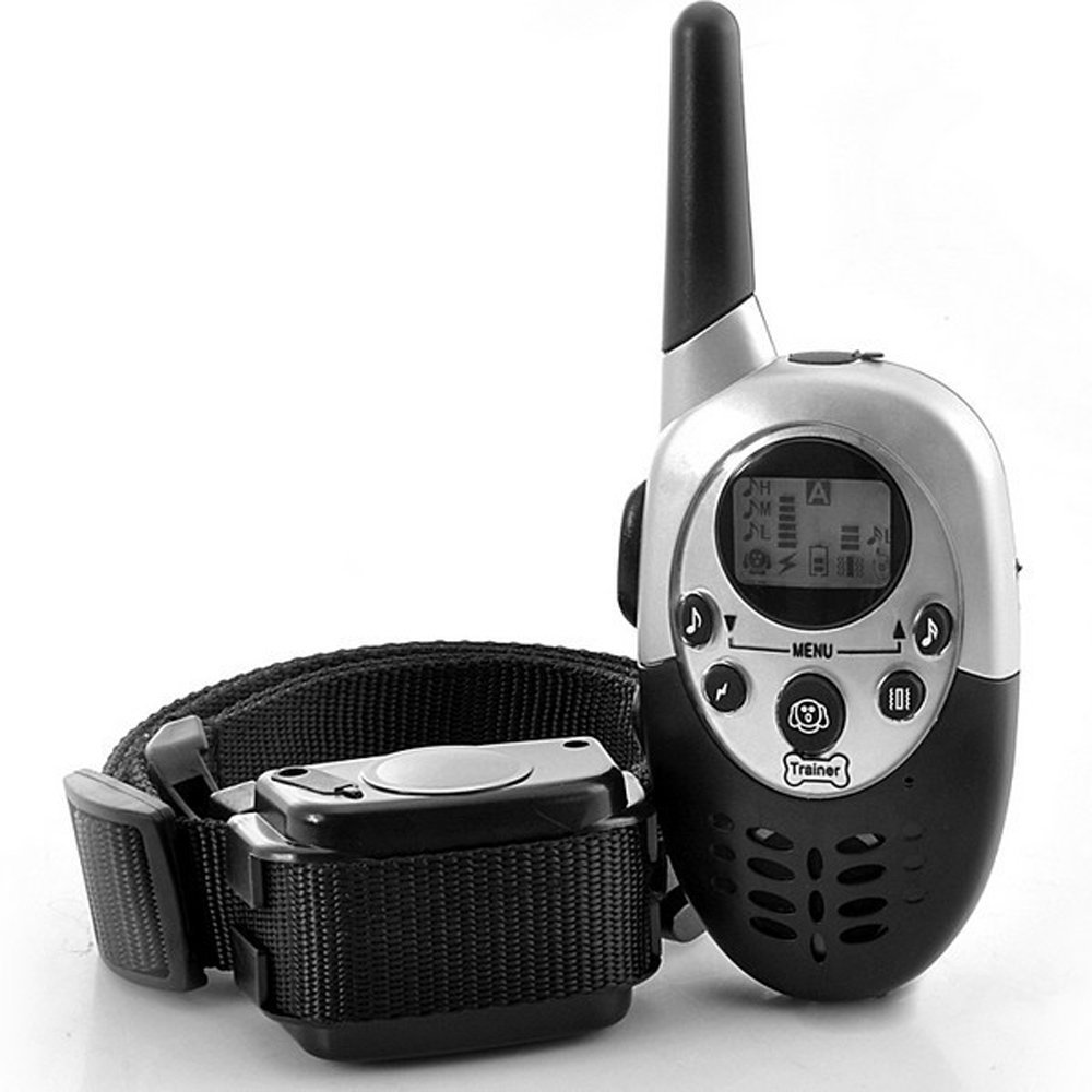 UMEI 1000 meters electric shock shake control dog trainer dog Collar 1 Drag 1 Can Train Two Dogs At The Same Time