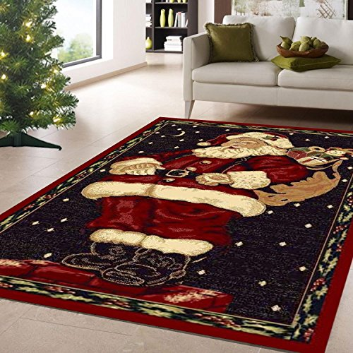 Santa Claus Christmas Rug Holiday Decor Carpet 3 3 Quot X 4 7