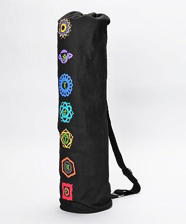 Amazon.com : OMsutra Chakra Yoga Mat Bag - Print : Sports ...