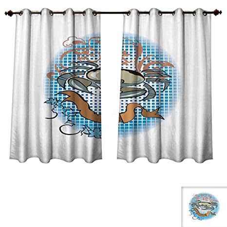 Amazon.com: RuppertTextile Crabs Bedroom Thermal Blackout ...