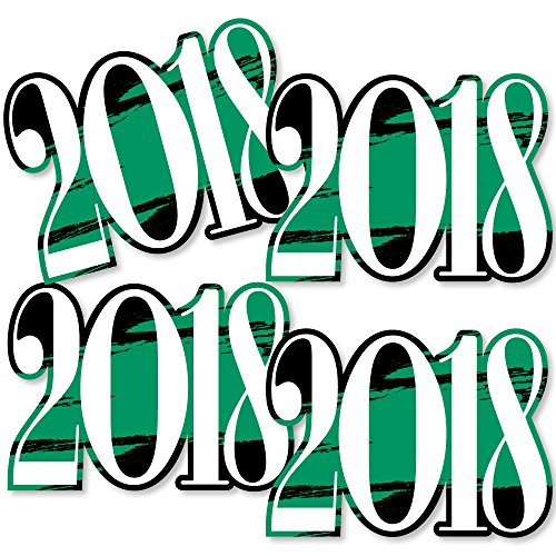 Green Grad 2018 - Best is Yet to Come - 2018 Decorations DIY Green Graduation Party Essentials - Set of 20 by Big Dot of Happiness