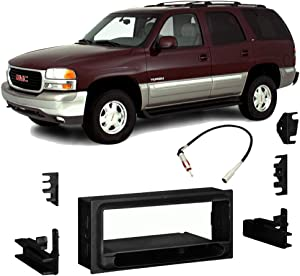Compatible with GMC Yukon Denali 1999 2000 Single DIN Stereo Harness Radio Install Dash Kit New