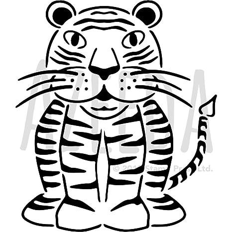 Azeeda A3 Tiger Wall Stencil Template WS00009993