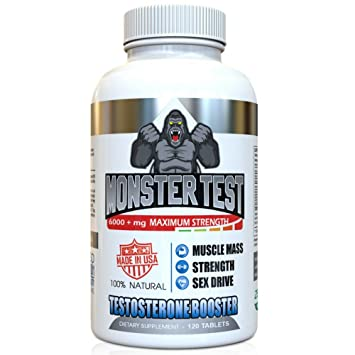 Angry Supplements Monster Test, Testosterone Booster, 5452 mg Cranks  T-Levels All Natural Formula