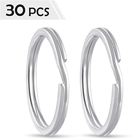 30 pcs Anillos partidos de metal,anillas llaveros para Organizaci/ón de Llaves,anillos para para hacer colgantes de llaveros Gimars bolsos colgantes y otros accesorios,30mm