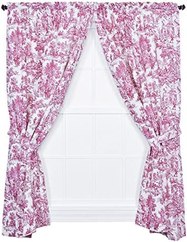 Ellis Curtain Victoria Park Toile 68-Inch-by-84 Inch Tailored Panel Pair