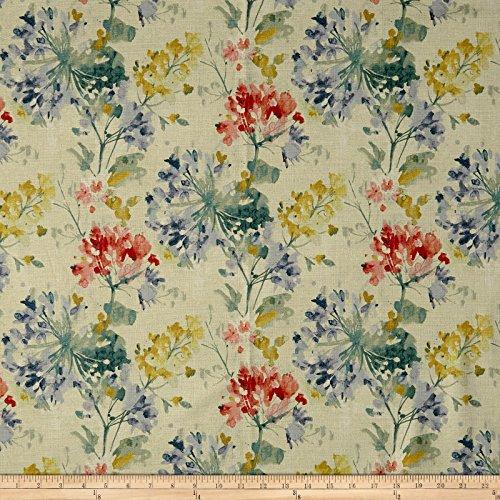 Swavelle/Mill Creek Dove Love Floral Barkcloth Primavera Fabric By The Yard (Primavera Duvet)