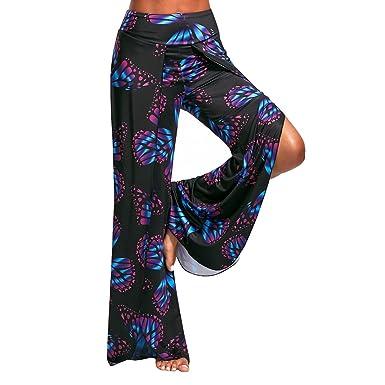 aefb1ca4a7f7 Hibote Bloomers Women Low Waist Yoga Pants Sexy Split Loose Harem Pants  Solid Color Chiffon Aladdin