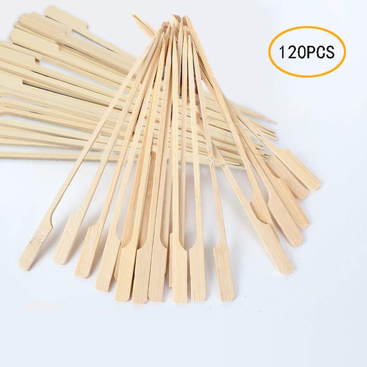 Coriver 120 Piezas de brochetas de Paleta de bambú Barbacoa Brochetas de bambú Palitos de cóctel para Barbacoa Barbacoa, Kebabs, Hamburguesas, buffets Party - 18 cm / 7 in