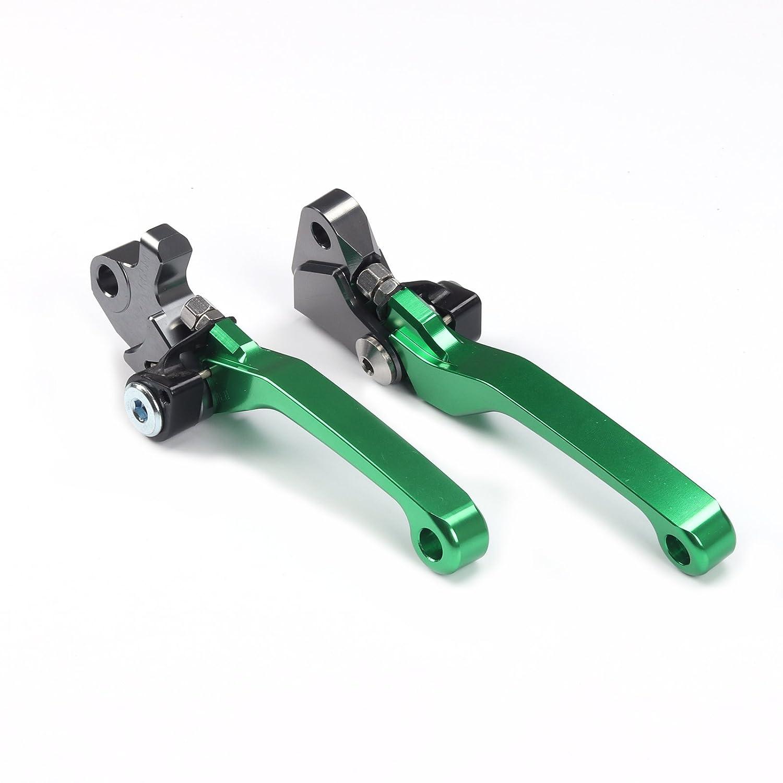 Billet Pivot Foldable Clutch Brake Lever Fit For Kawasaki KX125//KX250//KX250F//KX450F//KDX200//220 Dirt Bike