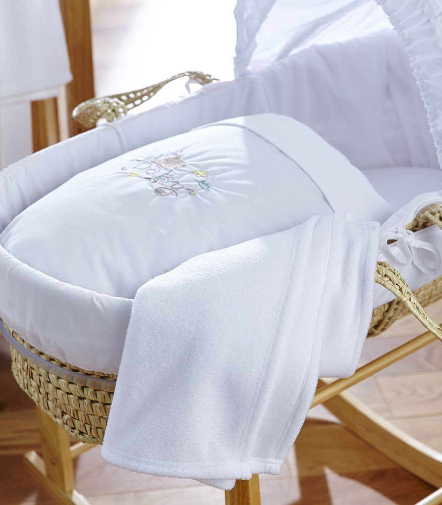 Clair de Lune Baby Palm Moses Basket
