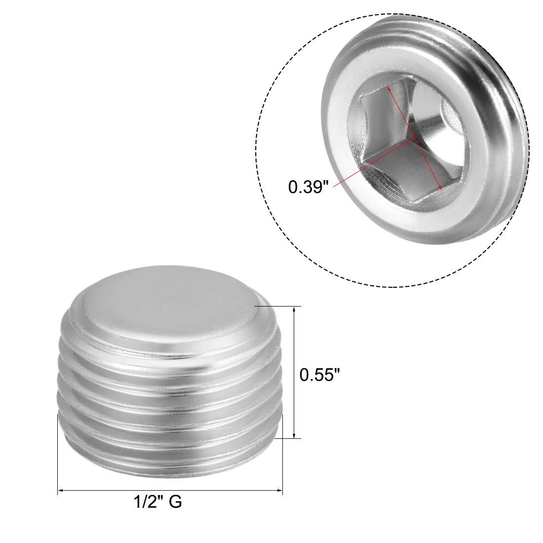 Uxcell a12082300ux0028 Socket Metal Connector Caps