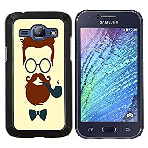 Dragon Case - FOR Samsung Galaxy J1 J100 J100H - Debonair Facial Hair - Caja protectora de pl??stico duro de la cubierta Dise?¡Ào Slim Fit