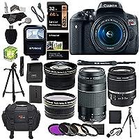 Canon EOS Rebel T6i 24.2 MP Digital SLR Camera 18-55mm STM Lens + Canon EF 75...