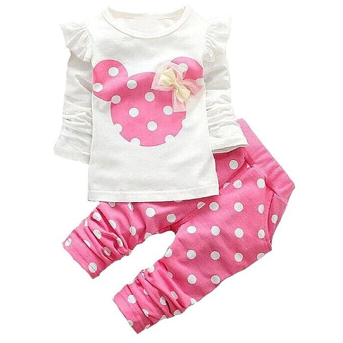 Amazon.com: Conjunto de ropa de bebé para niña, 2 piezas ...