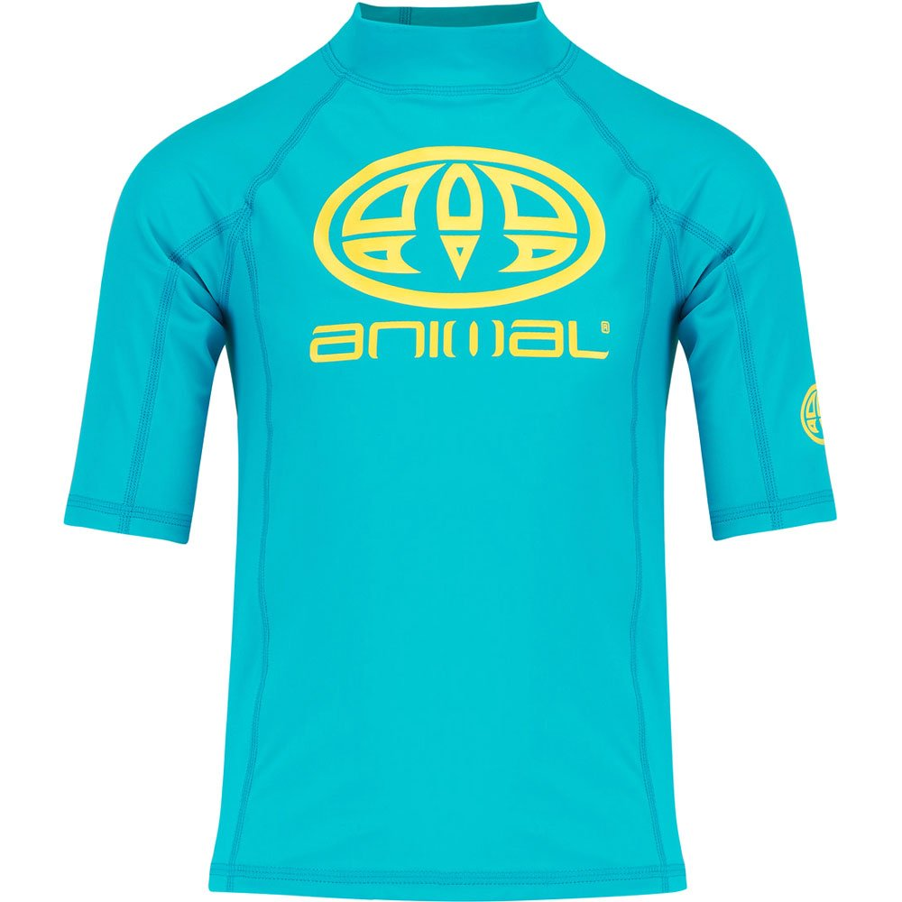 Animal 2018 Junior Boys Hiltern Short Sleeve Rash Vest Bluebird Blue CL8SN610 Junior Sizes - JUNIOR SMALL